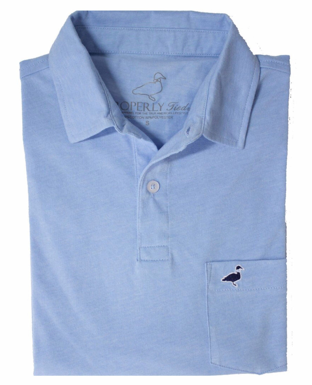 Light Blue Pocket Polo