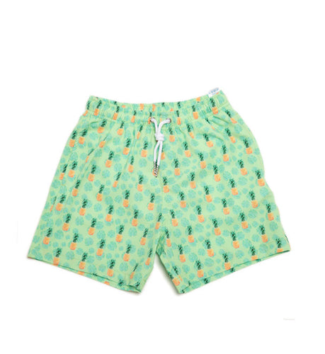 Pineapple Vibes Kids Swim Trunks