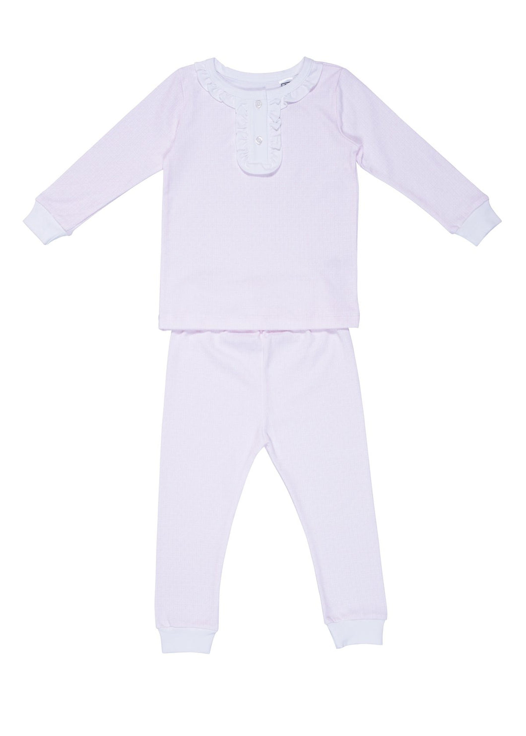 Pink Little Lines Pajama Set
