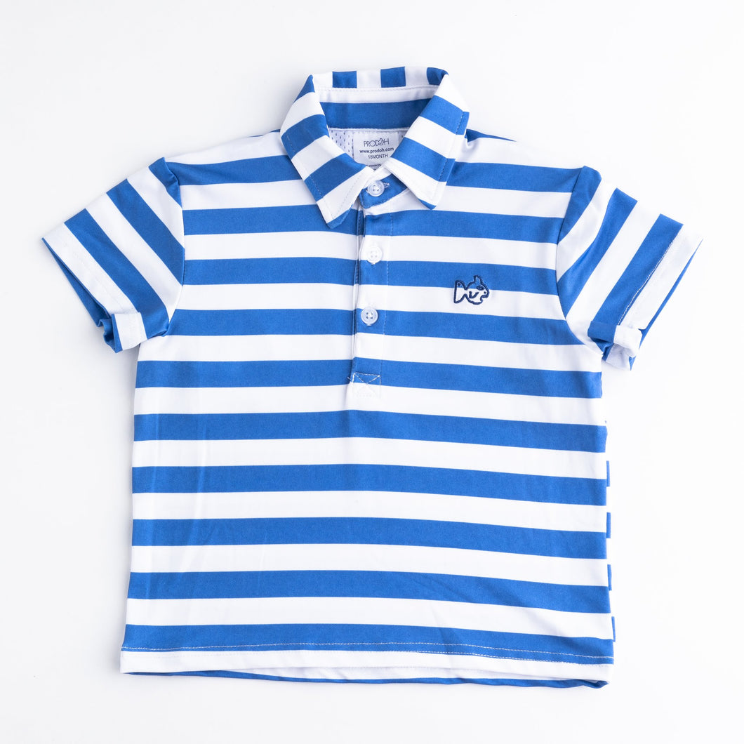 Regetta Blue Stripe Performance Polo