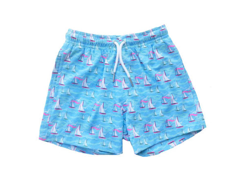 Sail Away Kids Swim Trunks
