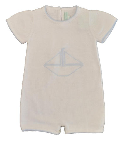 Sailor Cotton Knit Romper