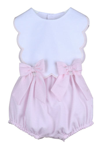 Scallop Bubble with Bows- Pink