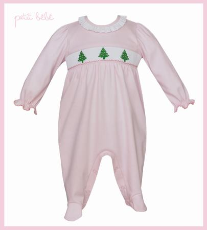Christmas Trees Girl Footie