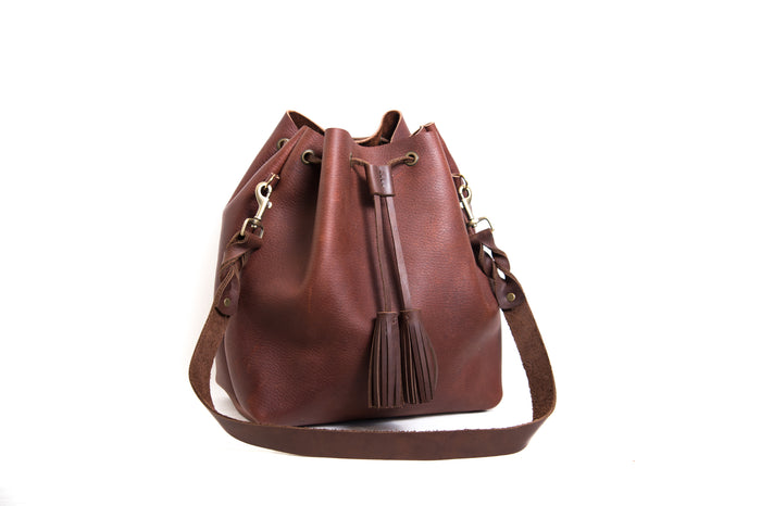 Barcelona Bucket Bag - Chestnut