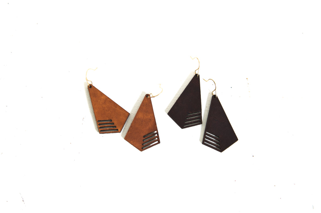 Diffuser Earrings Line Cut