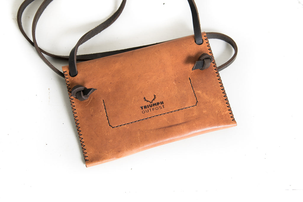 Second Trekker Crossbody Purse - Cognac