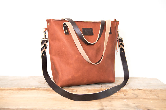 Everyday Zippered Tote Cinnamon