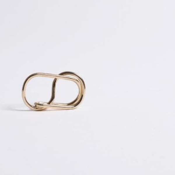 DOUBLE UPSYLON REVERSIBLE RING GOLD PLATED - jewelry
