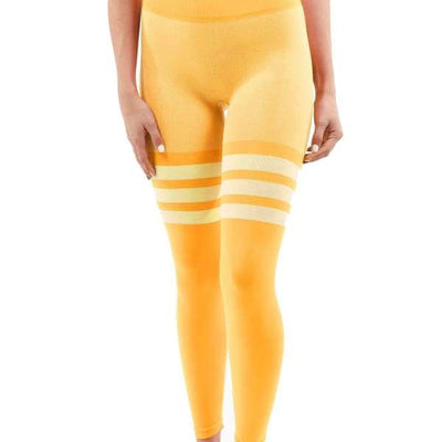 Flow Legging - Yellow - Women's Fashion - Women's Clothing - Bottoms - Leggings