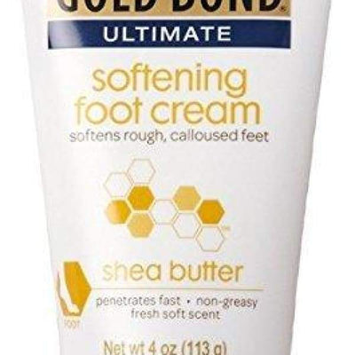 Gold Bond Ultimate Softening Foot Cream with Shea Butter 4 Ounce Leaves Rough Dry Calloused Feet Heels and Soles Feeling Smoother and
