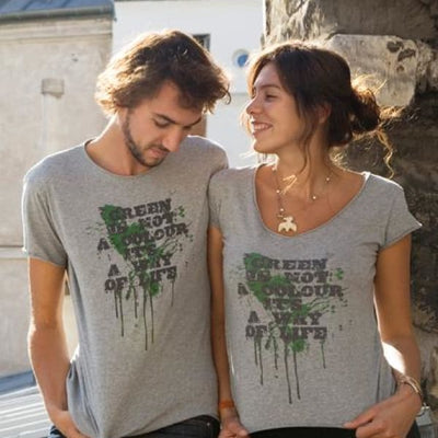 Green Ts - Green is not a color its a way of life (Grey) / Small / Men - Accessories