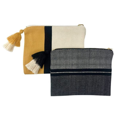 Handloom Stripe Cosmetic Bag - Women - Accessories - Wallets & Small Goods