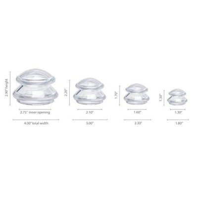 Lure Edge Cupping Therapy Sets - Silicone Cups for Cupping Set Firm (Clear)
