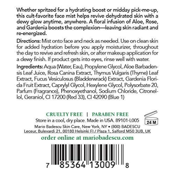 Mario Badescu Facial Spray with Aloe Herbs & Rosewater 4 Fl Oz (Pack of 2)