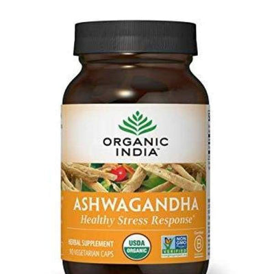 ORGANIC INDIA Ashwagandha Supplement Healthy Stress Response 90 Veg Caps