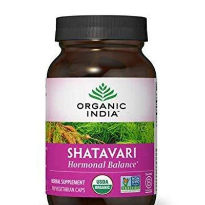 ORGANIC INDIA Shatavari Supplement Ayurvedic Herb to Balance Hormones 90 Veg Capsules