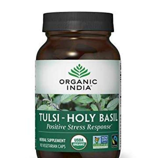 ORGANIC INDIA Tulsi - Holy Basil Supplement - Made with Certified Organic Herbs (Vegetarian Capsules 90 Count)