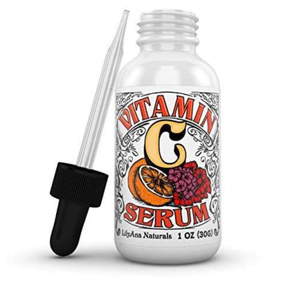 Vitamin C Serum with Hyaluronic Acid for Face and Eyes - Organic Skin Care with Natural Ingredients for Acne Anti Wrinkle Anti Aging Fades