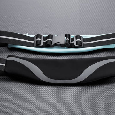 Water-Resistant Sport Waist Pack Running Belt With Reflective Strip - Sports & Entertainment