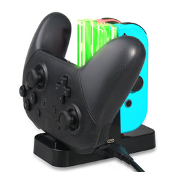Nintendo Switch 4 in 1 Charger Dock With LED Indicator For Joy-Cons, Pro Controller And