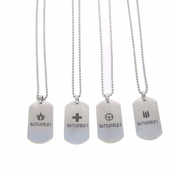 Battlefield 1 Necklace Pendant, Stainless Steel  Dog Tags