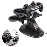 PS4 Controller Charge Station Cradle Stand With 2 USB Charging Docks, LED Indicator