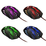 Color-Changing, 3200DPI LED Optical Wired Gaming Mouse for Pro Gamers