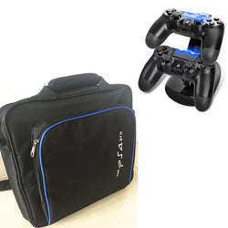 2-For-1 PS4 Pro Carry Bag+Dual Controller Charging Station