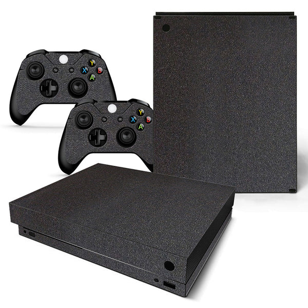 Black Leather-Themed Skin For Xbox one X Console And Controllers