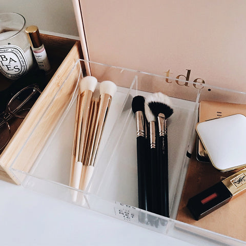 Brush Organiser Tray by The Cosmetic Box