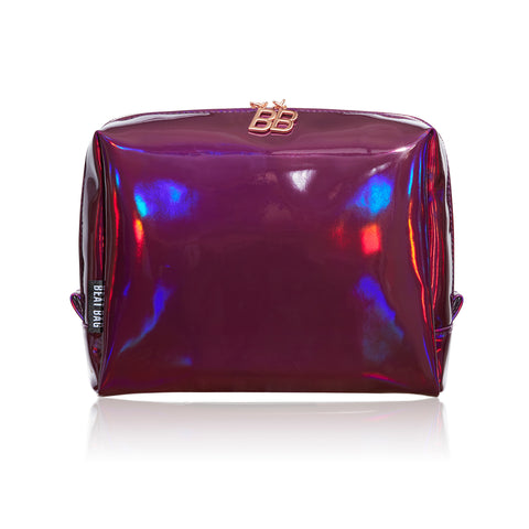 BEAT BAG presents Purple/Hollaback, quality holographic makeup bag