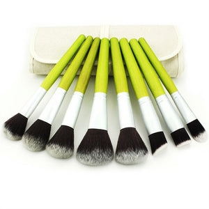 Lime Green Makeup Brush Set 23pcs