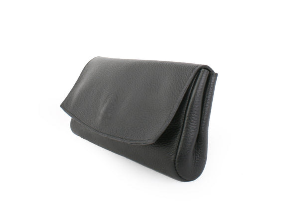 LBB Leather Clutch - Black