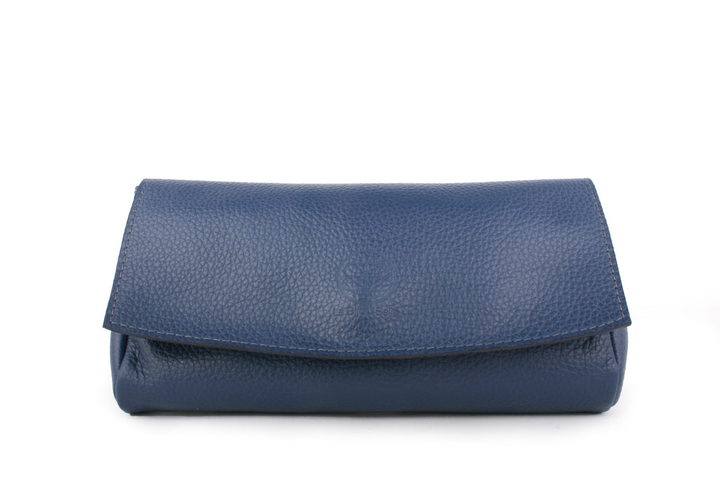 LBB Leather Clutch - Navy