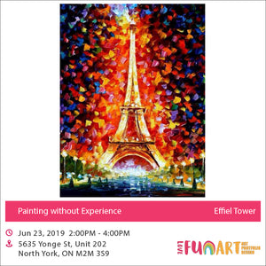 0 Experience  Painting - Eiffel Tower (June 23, 2019)