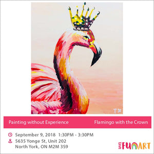 Flamingo with the Crown