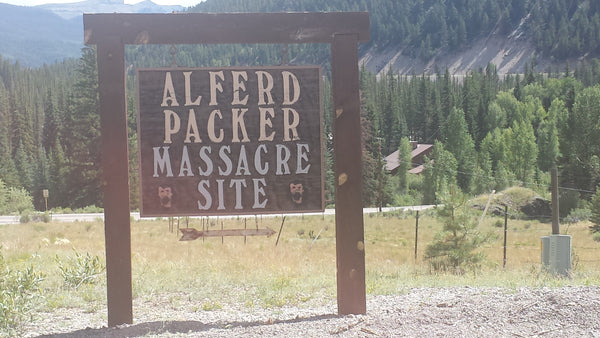 Alfred Packer Massacre Site Sign, Lake City Colorado