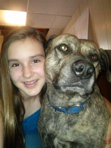 Sarah and Bear the Pit Bull She loved him