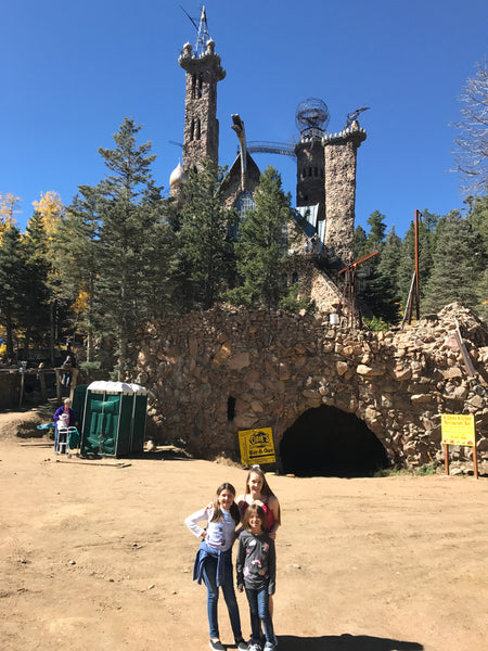 Bishop's Castle with Sarah, Lily and Emma