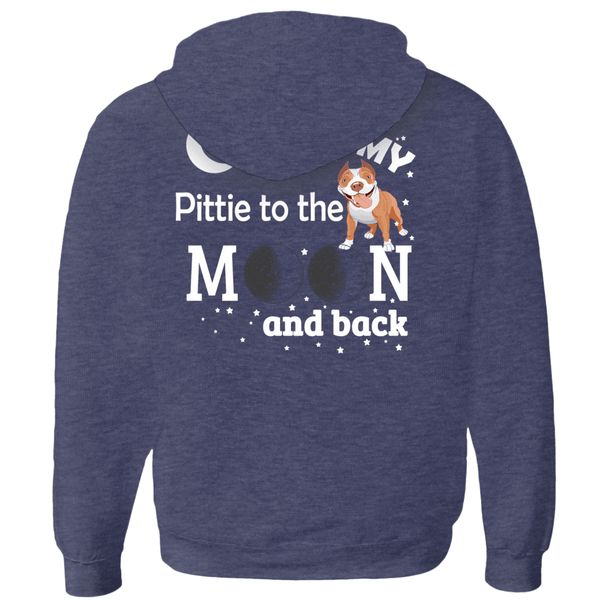I Love My Pittie - Hoodies (Zip-up) Unisex (6)  - Little Pit Shop