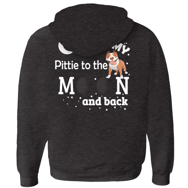 I Love My Pittie - Hoodies (Zip-up) Unisex (5)  - Little Pit Shop
