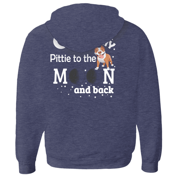 I Love My Pittie - Hoodies (Zip-up) Unisex (10)  - Little Pit Shop