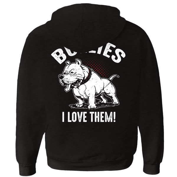 I Don't Like Bullies! - Zip-Up Hoodie,  | Pit Bull T Shirts, Hoodies and more | Little Pit Shop
