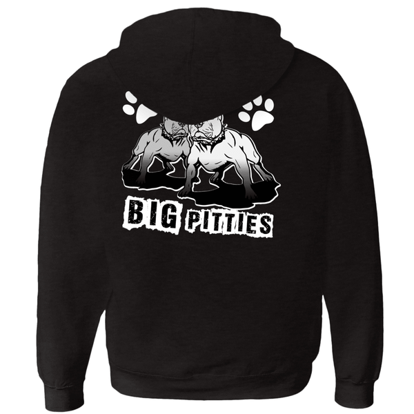 I Like Big Pitties Zip-up Hoodie Grey Triblend Extra Large (XL) - Little Pit Shop