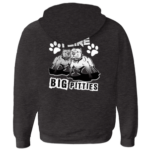 I Like Big Pitties Zip-up Hoodie Charcoal Black Small (S) - Little Pit Shop