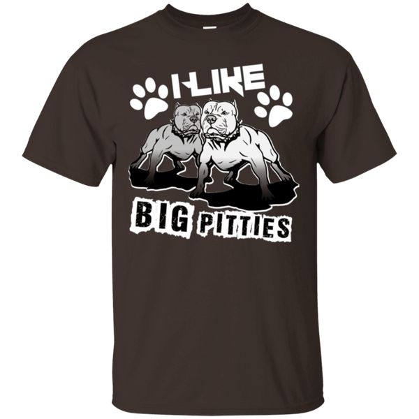 I Like Big Pitties Lt - G200 Gildan Ultra Cotton T-Shirt Dark Chocolate Small - Little Pit Shop