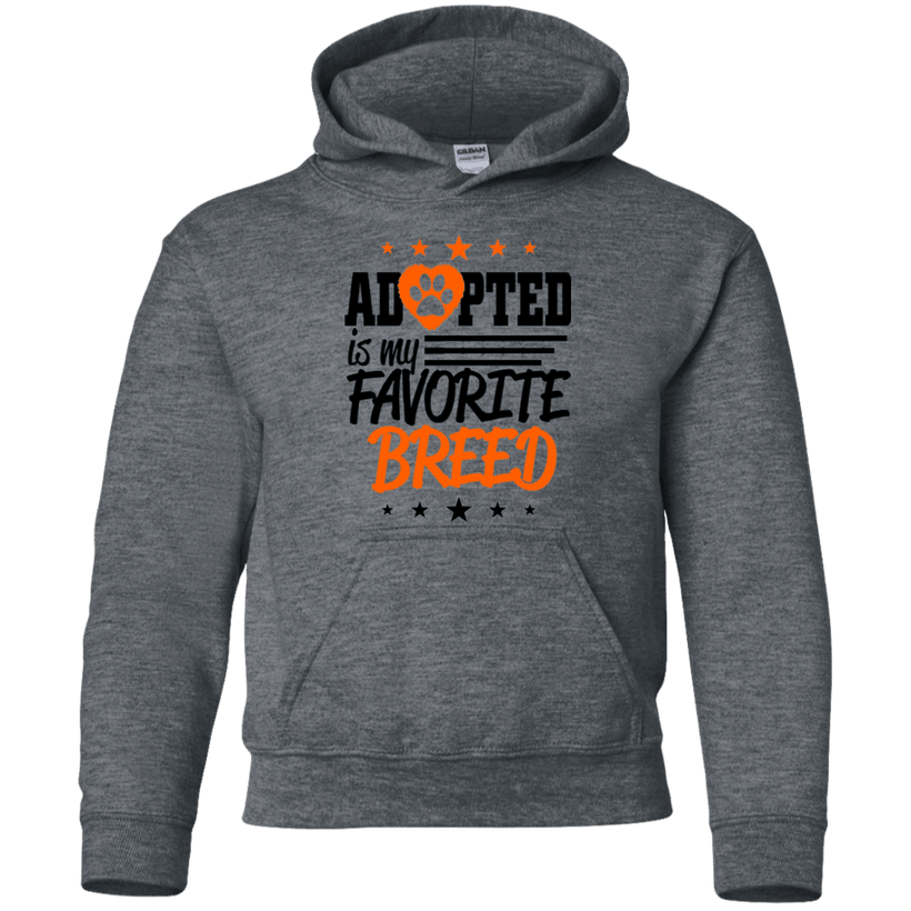 Adopted Is My Favorite Breed T-Shirts Hoodies by Little Pit Shop
