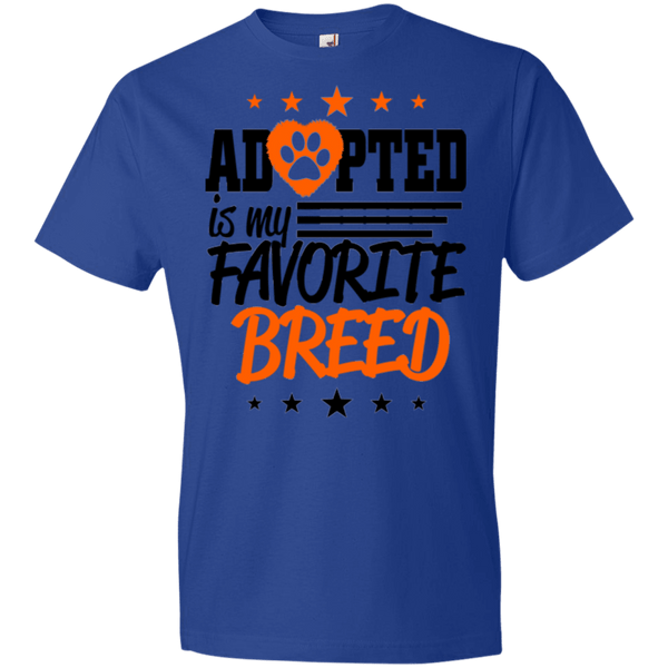 Adopted is My Favorite Breed - 990B Anvil Youth Lightweight T-Shirt 4.5 oz Royal YXS - Little Pit Shop