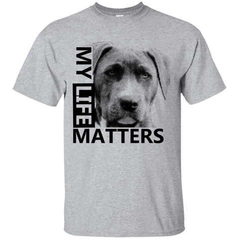 My Life Matters - G200 Gildan Ultra Cotton T-Shirt Light Sport Grey Small - Little Pit Shop